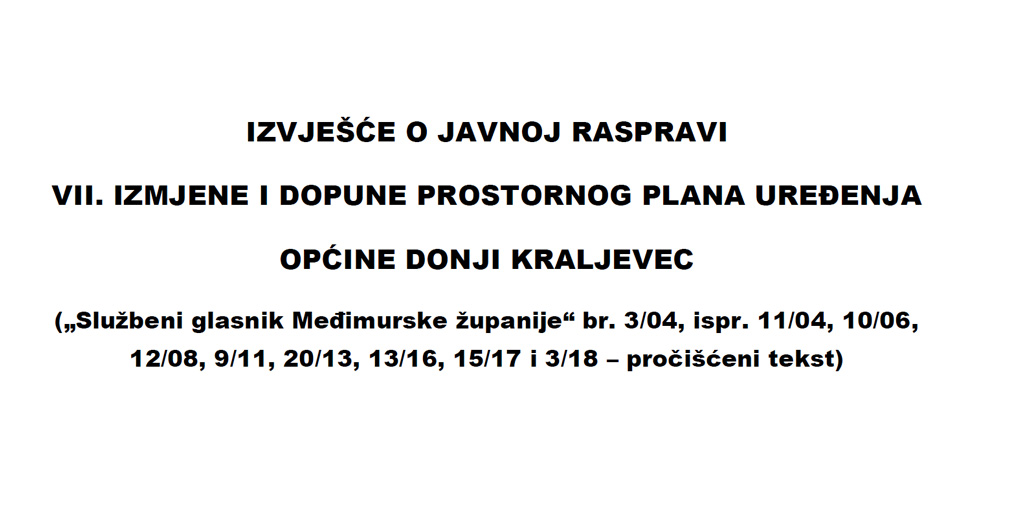 Izvješće o javnoj raspravi VII_ID_PPUO D Kraljevec 2019.