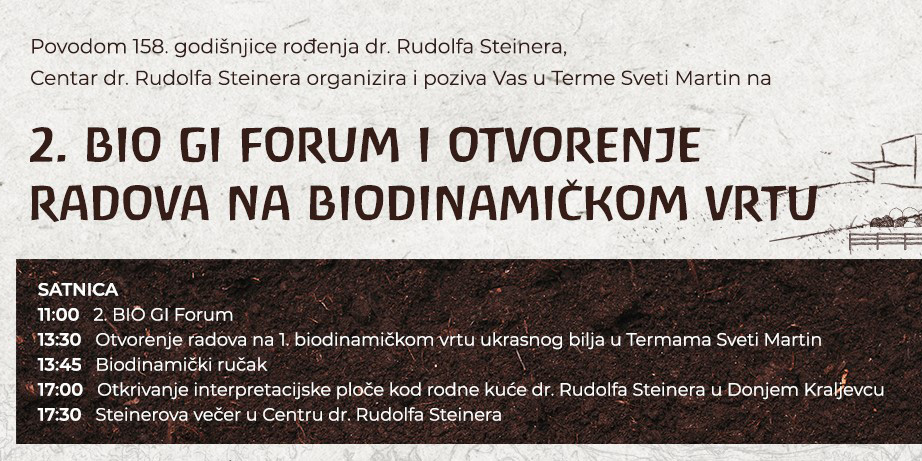 Program događanja 2. BIO GI FORUM-a