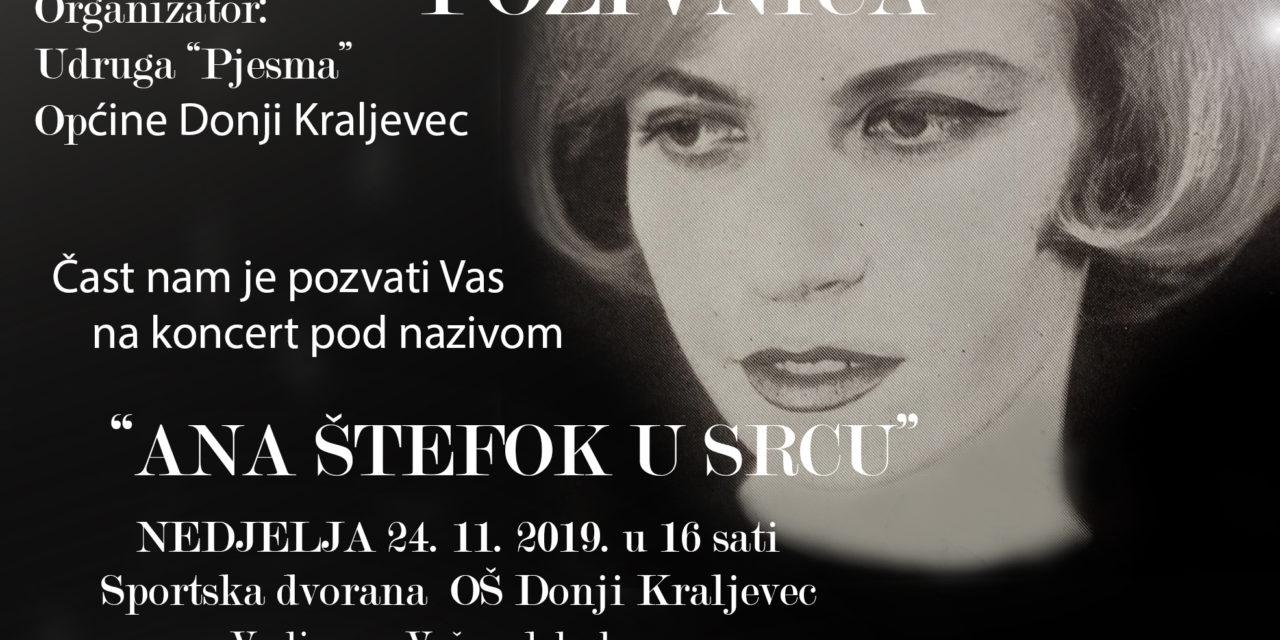 Koncert – Ana Štefok u srcu