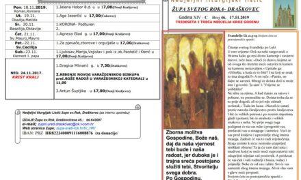 LITURGIJSKI LISTIĆ – 33. NEDJELJA KROZ GODINU