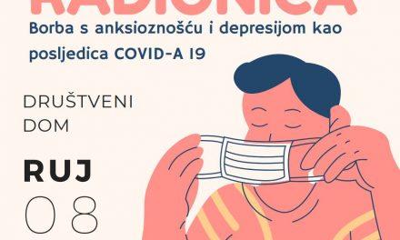 """Radionica """"Borba s anksioznošću i depresijom kao posljedica COVID-a 19"""""""